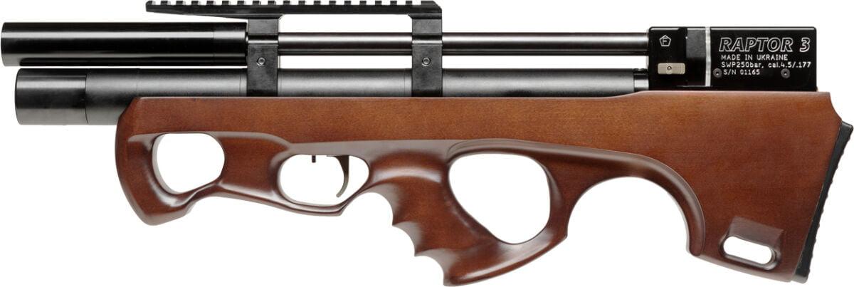 Винтовка пневм. Raptor 3 Compact 4,5 мм ц:коричневый