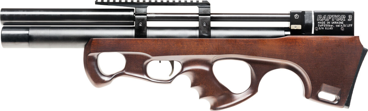 Винтовка пневм. Raptor 3 Compact Plus HP 4,5 мм ц:коричневый