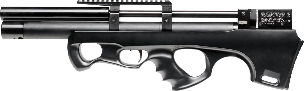 Винтовка пневм. Raptor 3 Compact Plus HP 4,5 мм ц:черный