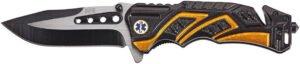 Нож SKIF Plus DOC, Марка стали – 3Cr13MoV, Материал рукоятки – Алюминий, Длина общая – 206 мм, Длина клинка – 89 мм. Вес – 154 г