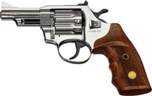 Револьвер флобера Alfa mod.431 3″ Никель. Рукоять №2. Материал рукояти – дерево