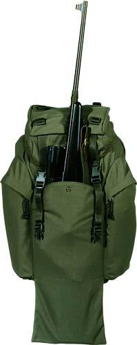 Рюкзак Riserva Hunting rucksack with central pocket 25х33х55см. 75л. с карманом для ружья ц:зеленый