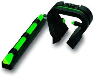 Набор Hiviz (мушка+целик), стационарные, оптиковолоконные для гладкоствольного оружия, на прицельную планку.  В комплекте 4-ре. зелен. доп. вставки, 3 треугольные и 1 круглая.