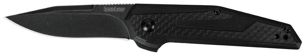 Нож Kershaw Fraxion, сталь – 8Cr13MoV, рукоятка – G-10/углеродное волокно, обычная режущая кромка, 2-хсторонняя клипса, длина клинка – 70 мм, длина общая – 171 мм.