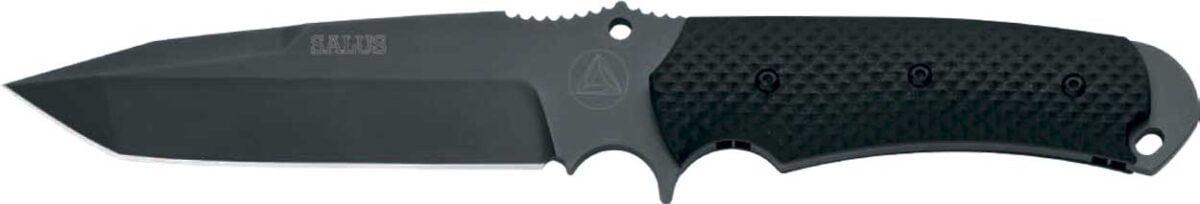 Нож Fox FKMD Combative Edge Salus, сталь – N690Co, рукоятка – G-10, ножны – кордура, длина клинка – 130 мм, длина общая – 270 мм.