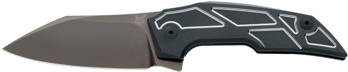 Нож Fox Phoenix ц: черный, сталь – M390, рукоятка – титан, обычная режущая кромка, клипса, длина клинка – 85 мм, длина общая – 200 мм