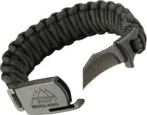 Браслет выживальщика Outdoor Edge ParaClaw Black Large Blister, сталь – 8Cr13MoV, паракорд, длина клинка – 38 мм