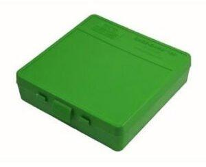 Коробка для патронов MTM кал. 9мм; 380 ACP. Количество – 100 шт- зеленый