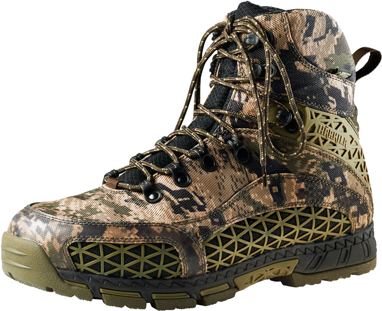 Ботинки Harkila Trapper Master GTX 6″. Размер – 6. Цвет – Optifade® Ground Forest