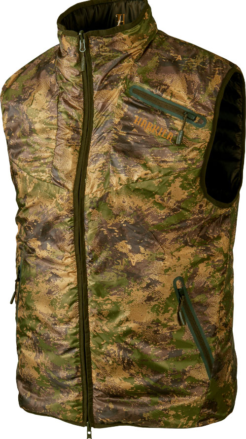 Жилет Harkila Lynx Insulated Reversible. Размер – S. Цвет Willow green/Axis MSP&Forest Green.