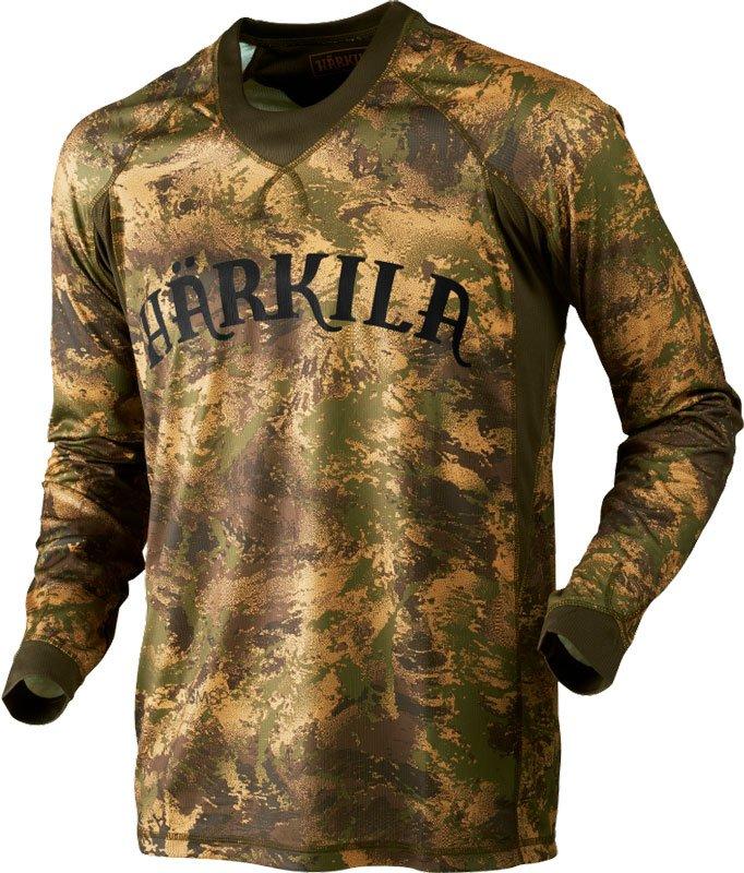 Футболка Harkila Lynx. Размер – S. Цвет – Axis MSP&Forest Green.
