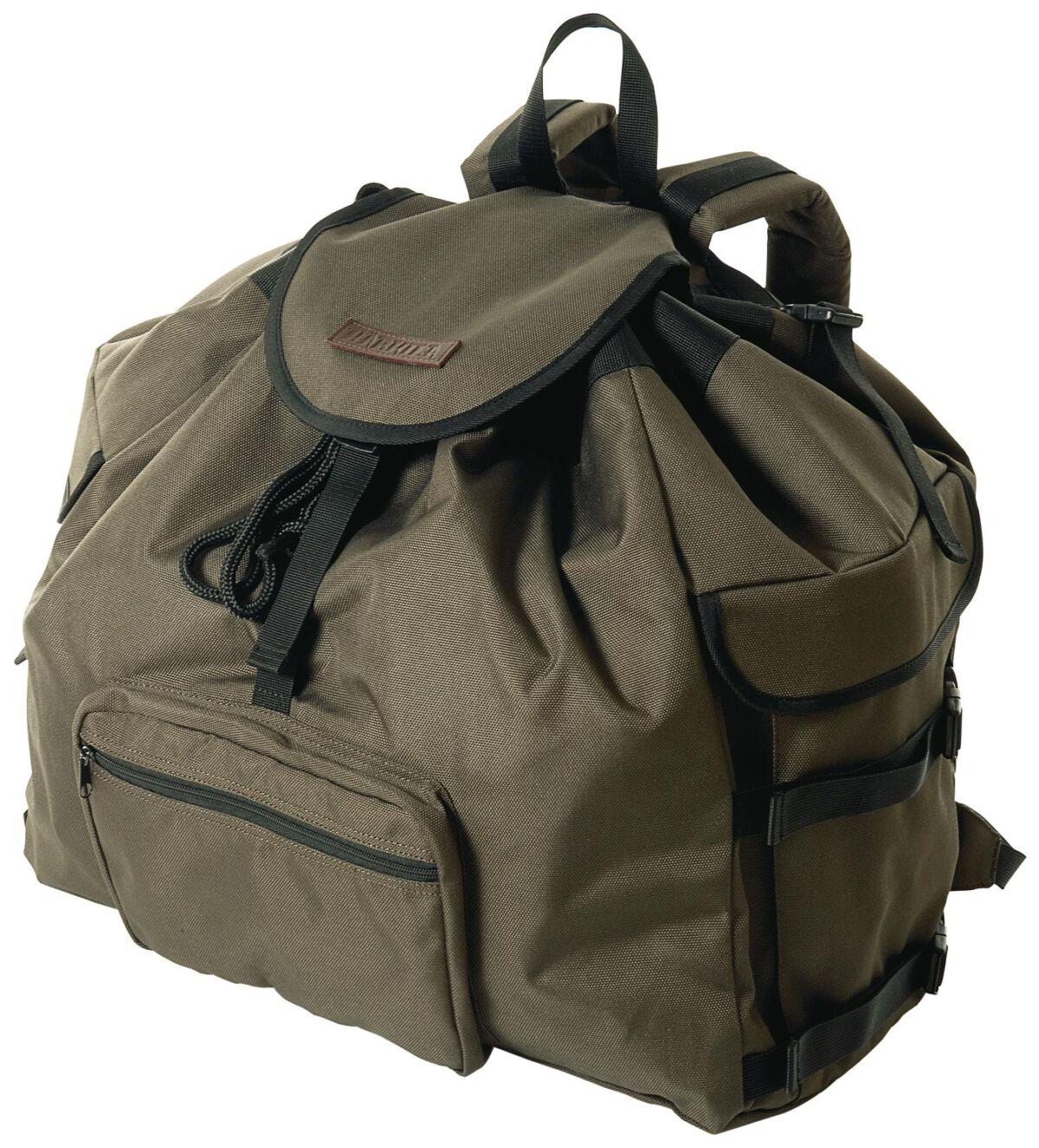 Рюкзак Harkila Fenja ц: зеленый/коричневый. Объем – 80 литров.