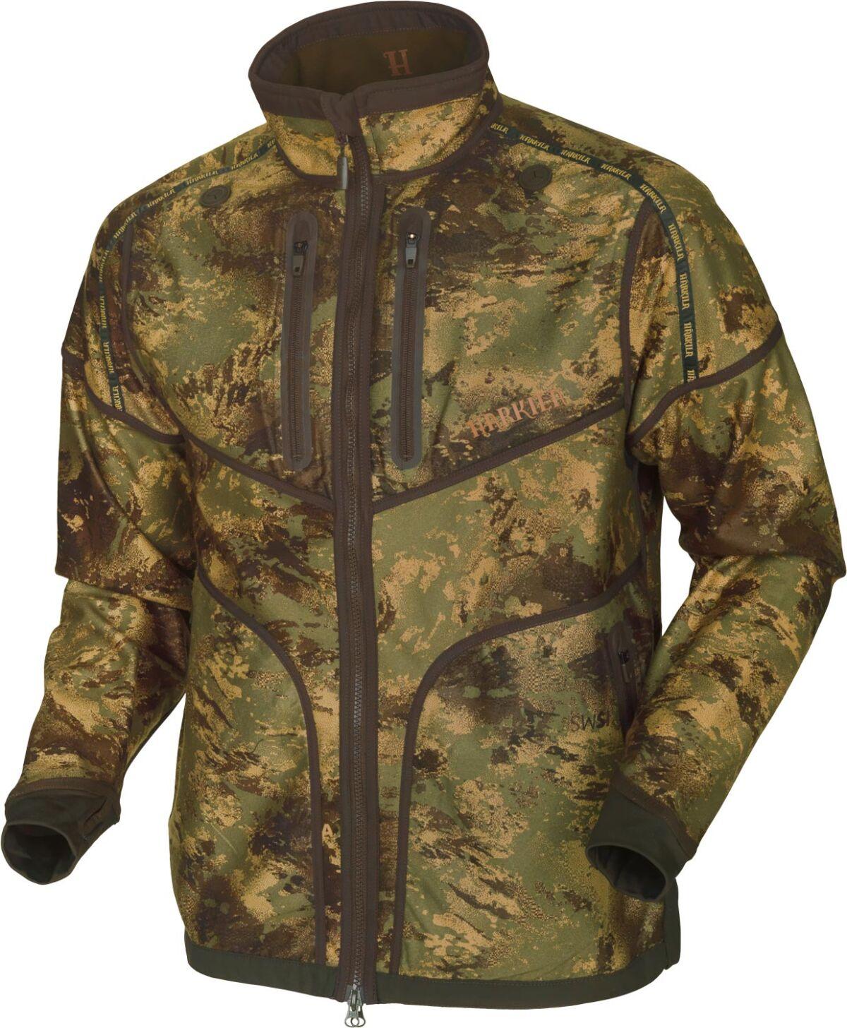 Куртка Harkila Lynx Reversible. Размер – S. Цвет – Axis MSP&Forest Green