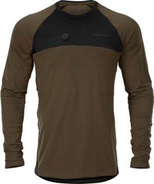 Футболка Harkila Heat Control. Размер – XL. Цвет – зелёный/чёрный