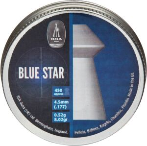 Пули пневматические BSA Blue Star. Кал. 4.5 мм. Вес – 0.52 г. 450 шт/уп
