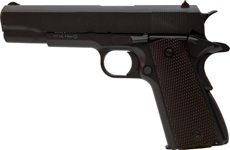 Пистолет пневматический KWC KMB-76AHN Blowback (Colt 1911). Корпус – металл, 4,5 мм, 100 м/с
