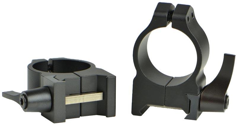 Кольцa быстросъемные Warne Maxima Quick Detach Ring. d – 25.4 мм. Medium. Weaver/Picatinny