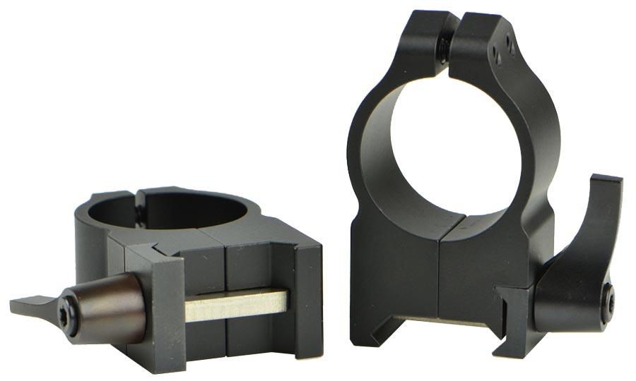 Кольцa быстросъемные Warne Maxima Quick Detach Ring. d – 25.4 мм. High. Weaver/Picatinny