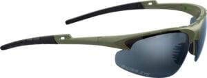 Очки баллистические Swiss Eye Apache. Цвет – оливковый, 3 сменные линзы (прозрачный/затемненный/оранжевый), чехол из микрофибрового материала, футляр