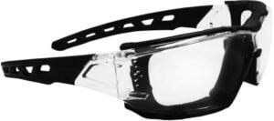 Очки баллистические Swiss Eye Net. Цвет – черныйпрозрачный, прозрачные линзы, пылезащита, чехол из микрофибрового материала