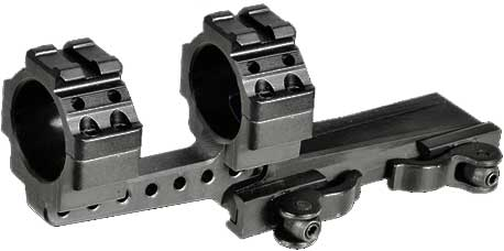 Быстросьемное крепление-моноблок Leapers UTG Integral QD Mounts с выносом. Диаметр – 30 мм. High (высокое). Длина – 100 мм. На планку Weaver/Picatinny